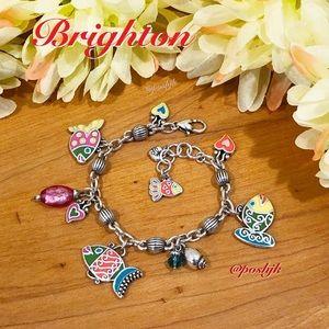 Brighton Charm Bracelet Silver Enamel Lil Sea